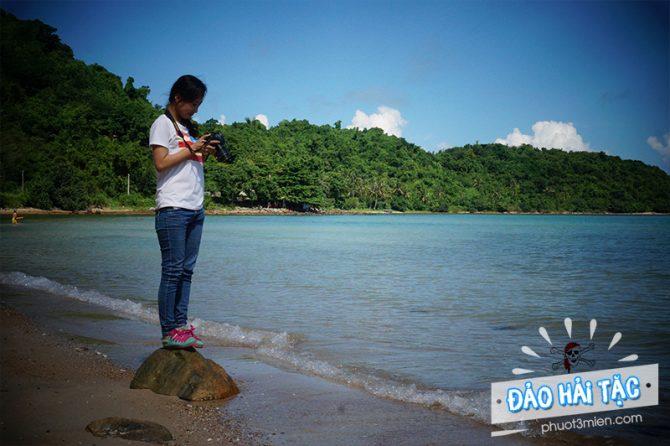 chụp hình sống ảo trên đảo