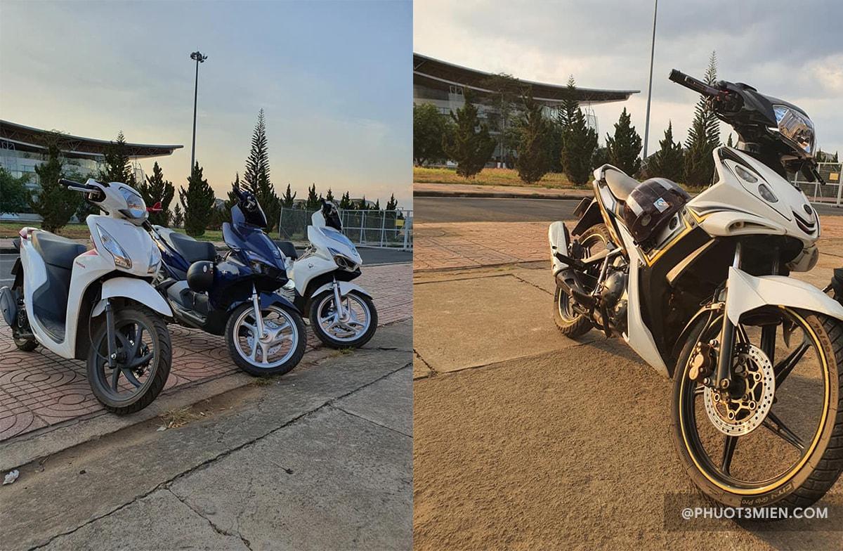 thuê xe máy tại sân bay liên khương