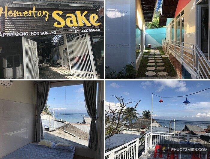 homestay sake hòn sơn view biển