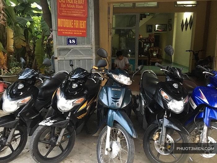 thuê xe máy chị hương ninh bình