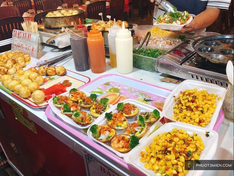 ăn vặt ở chợ đêm phú quốc