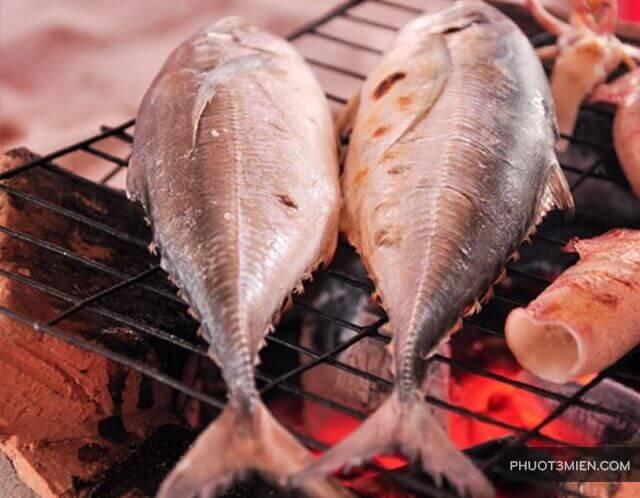 cá sòng nướng