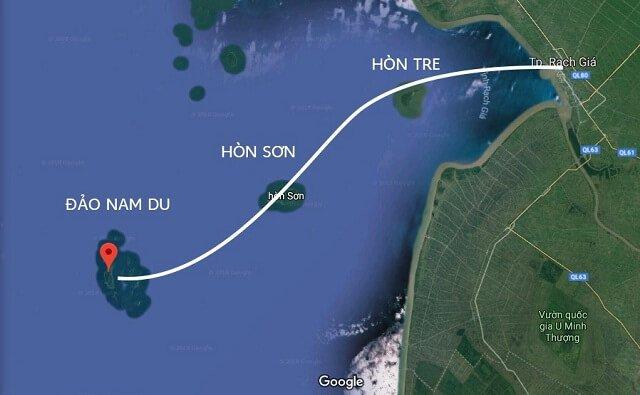 Tàu đi đảo nam du