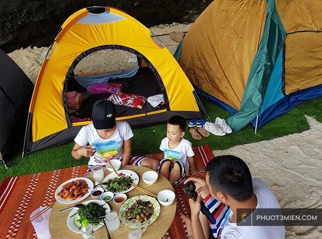 THuê lều ở Đảo Lý Sơn