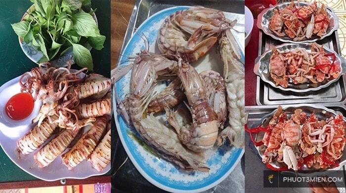 Quán hải sản ngon ở đồng hới