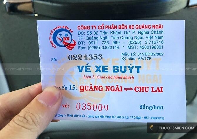 Xe bus chu lai - Quảng Ngãi