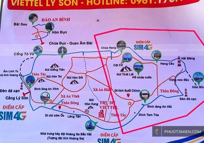 Bản đồ Lý Sơn