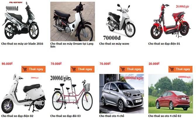 Cho thuê xe máy ở Lạng Sơn