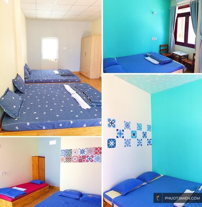 Phòng nghỉ homestay bọt biển tại Phan Thiết