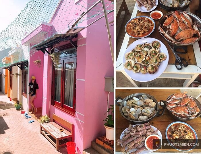 bbq tại homestay bọt biển ở Phan Thiết
