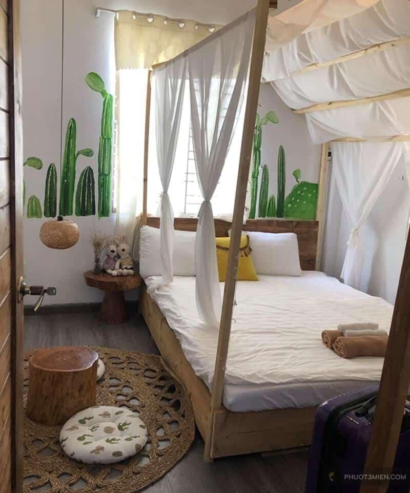 phòng ngủ tại yang mang homestay