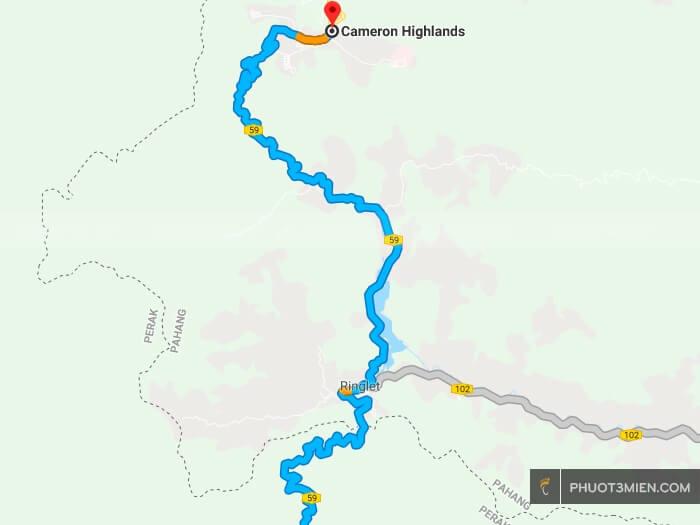 đường lên cameron Highlands