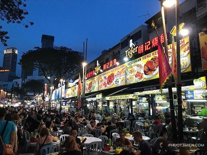 con đường ẩm thực jalan alor
