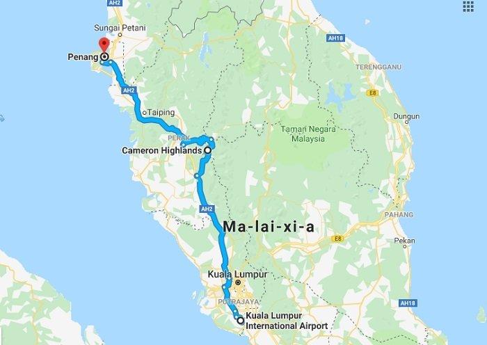 lịch trình đi malaysia