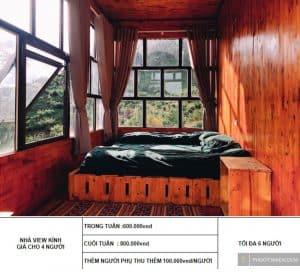 các loại phòng tại homestay phố núi tình yêu