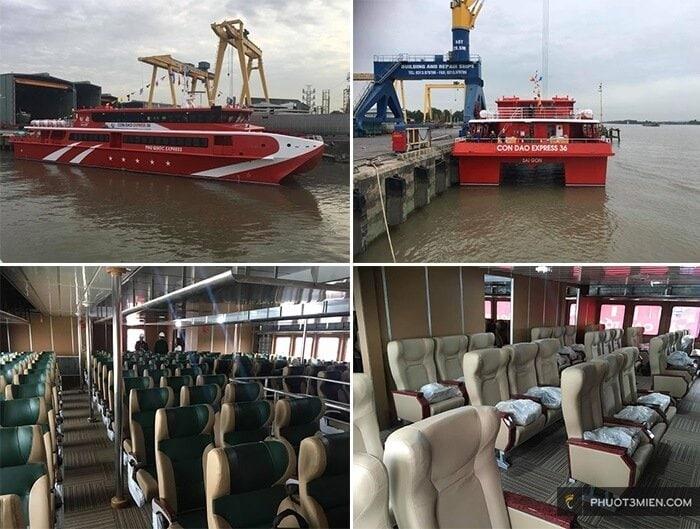 tàu côn đảo express chạy từ cảng cầu đá