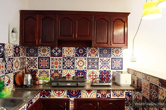 Phòng bếp tại Pallet House homestay