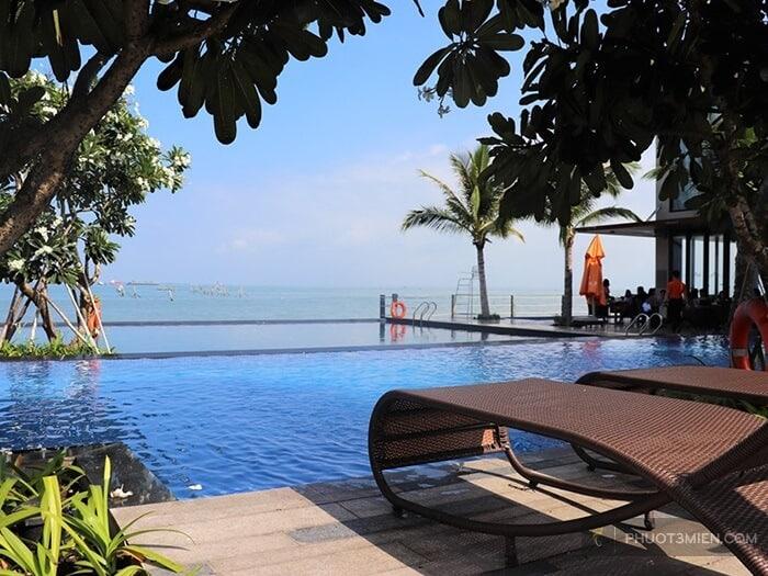 Hồ bơi vô cực tại MARINA BAY Resort & Spa 5 sao Vũng Tàu