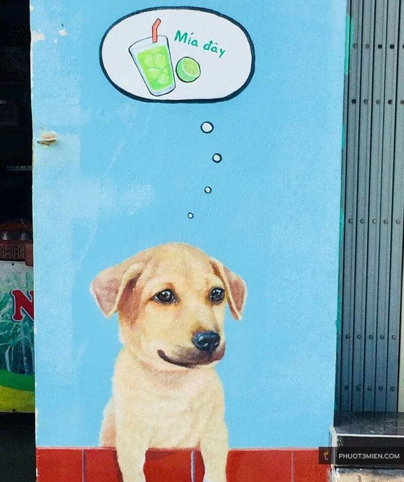 Tranh vẽ chú chó