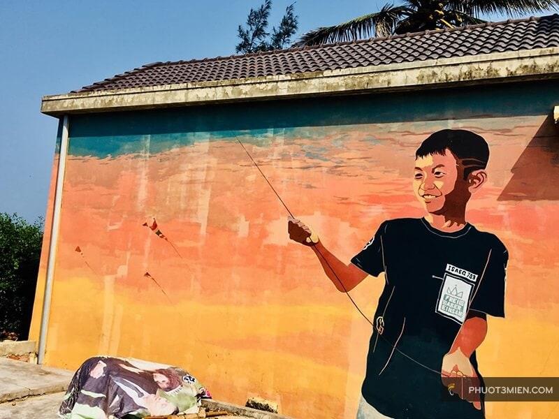 Làng bích họa tam thanh ở Quảng Nam