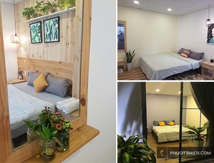 phòng ngủ tại La la House Nha Trang