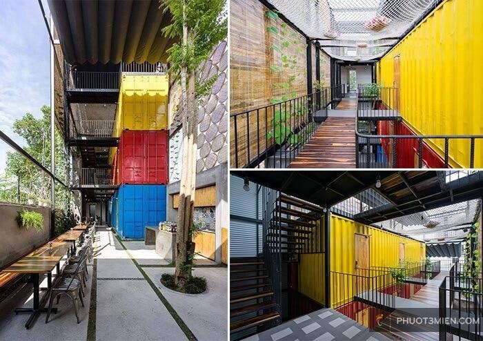 phòng container ccasa hostel nha trang