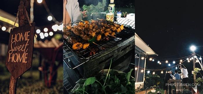 bbq buổi tối tại cốm homestay