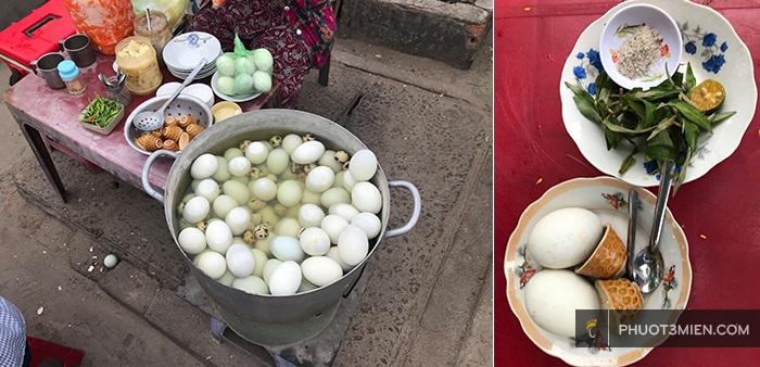 hột vịt lộn - món ăn chơi ở chợ mũi né