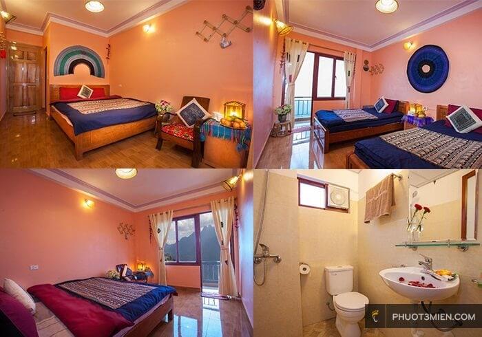 phòng nghỉ tại little view homestay ở sapa