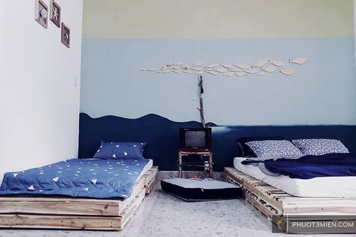 phòng nghỉ tại vani home nha trang
