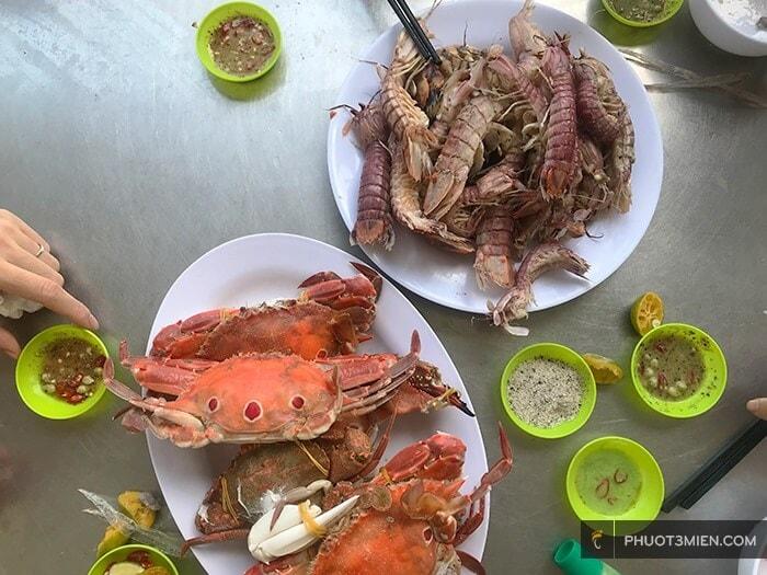 ăn hải sản tại mũi né