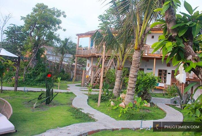 view vườn của Resort