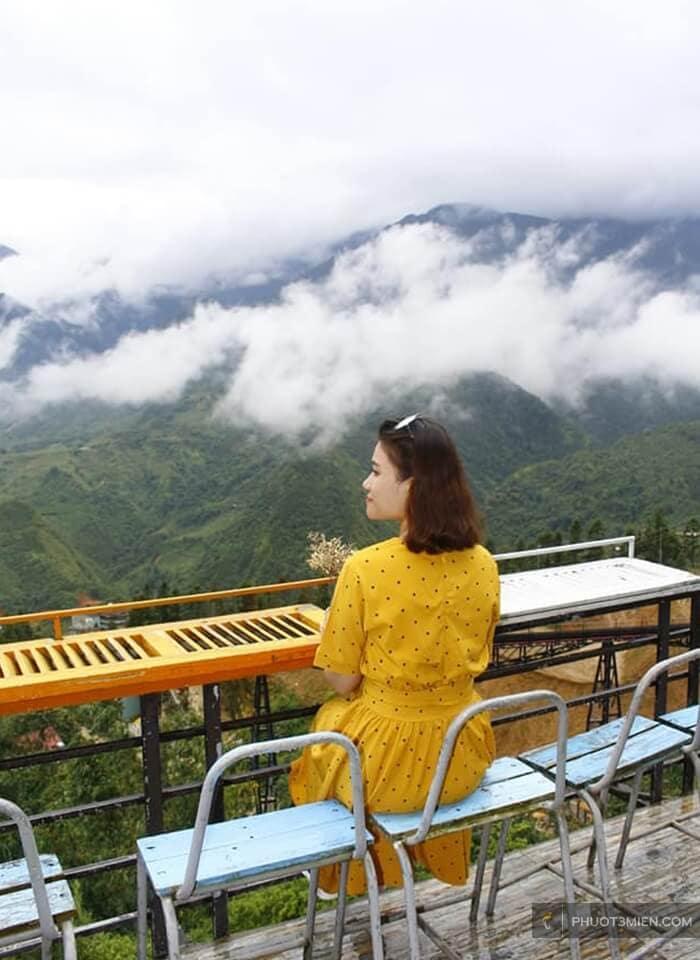 view ngắm mây ngay quán cafe