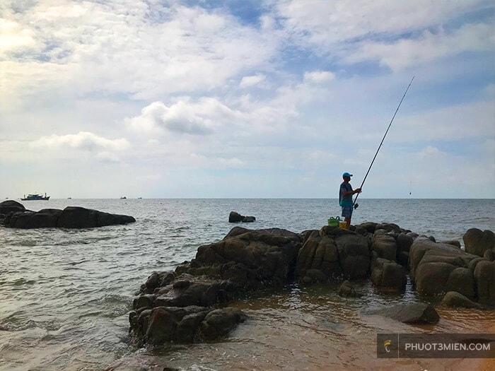 câu cá ở đèo nước ngọt