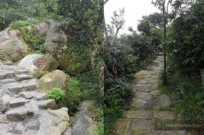 bậc thang đá lên đỉnh