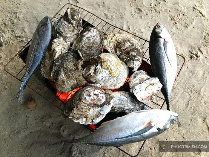 hải sản nướng tại long hải