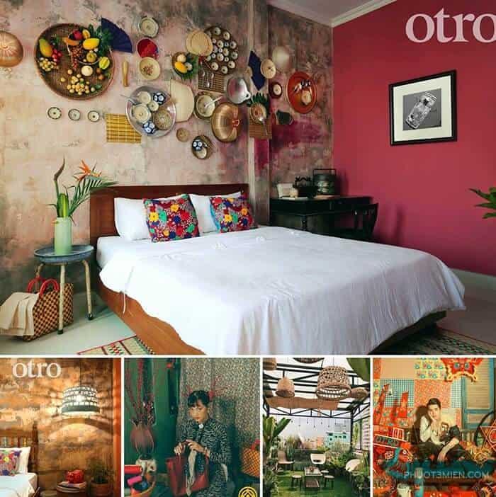 phòng ngủ tại Otro homestay
