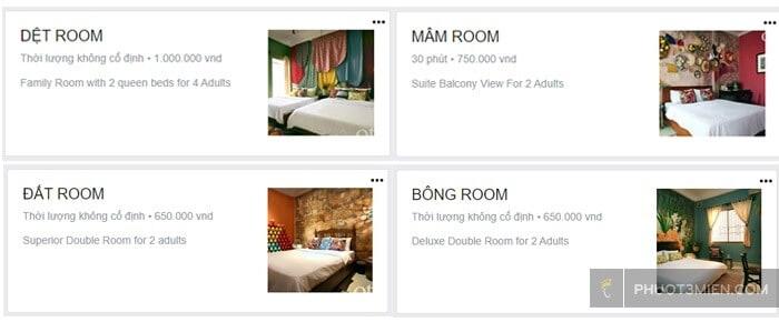 Giá phòng tại Otro homestay