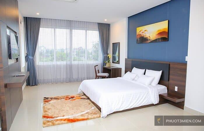 Phòng nghỉ tại huyền sâm villa b1.3
