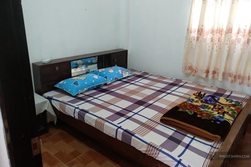 phòng nghỉ tại homestay hoàng vi