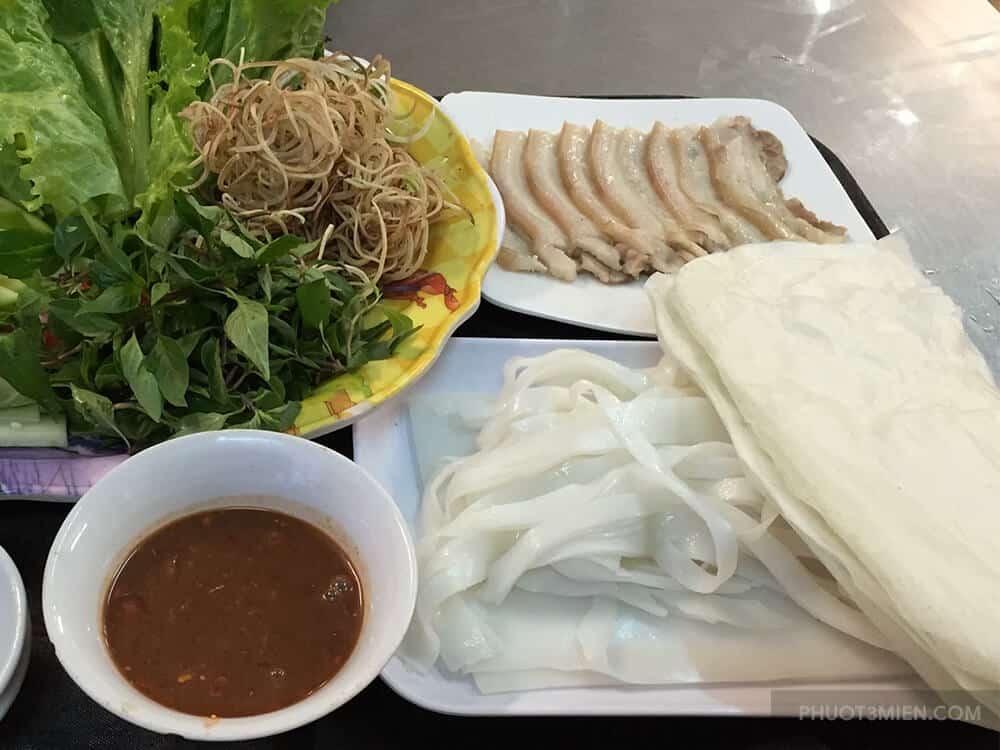 bánh tráng cuốn thịt heo - đặc sản đà nẵng