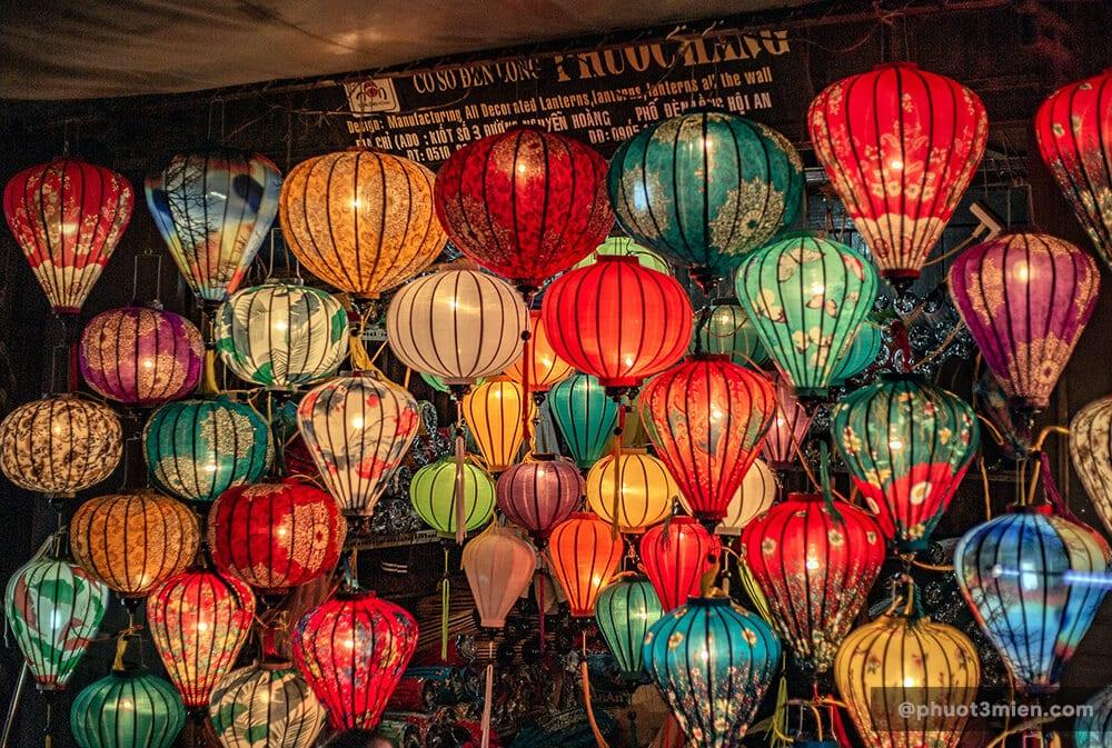 tiệm đèn lồng ở Hội An