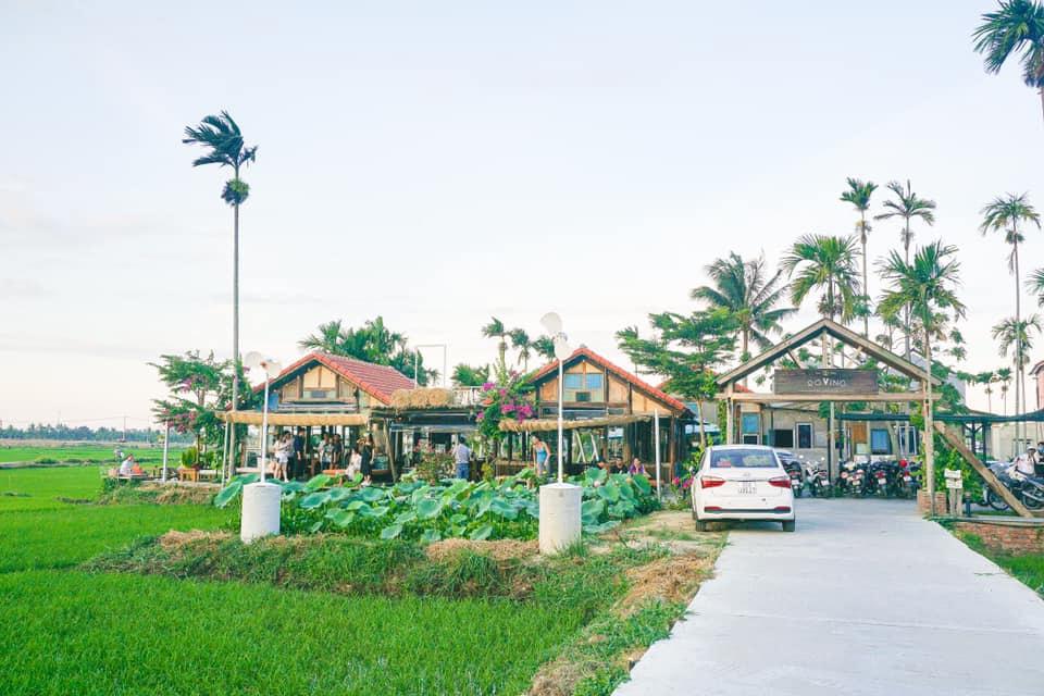 quán cafe view ruộng lúa