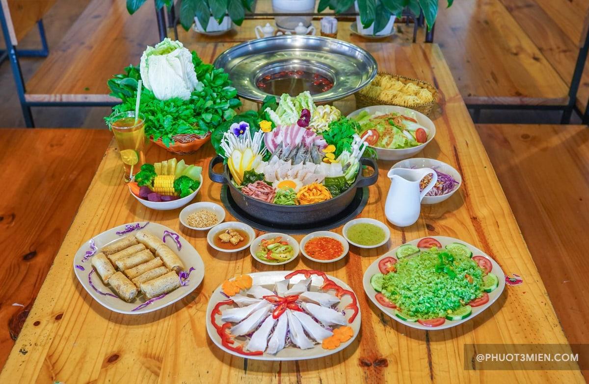 buffet rau laguda lẩu rau đà lạt
