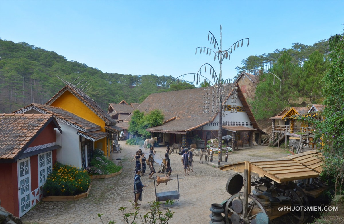 khu du lịch làng cù lần