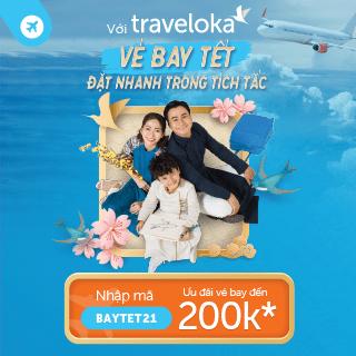 quảng cáo vé máy bay traveloka