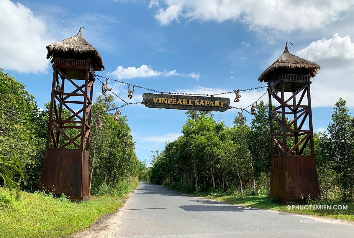 đường vào vườn thú vinpearl