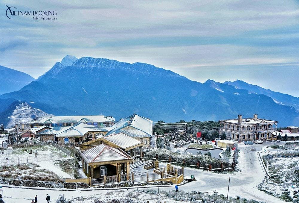 Vẻ đẹp thơ mộng tựa một ngôi làng châu u cổ kính ngày đông. Ảnh: ST