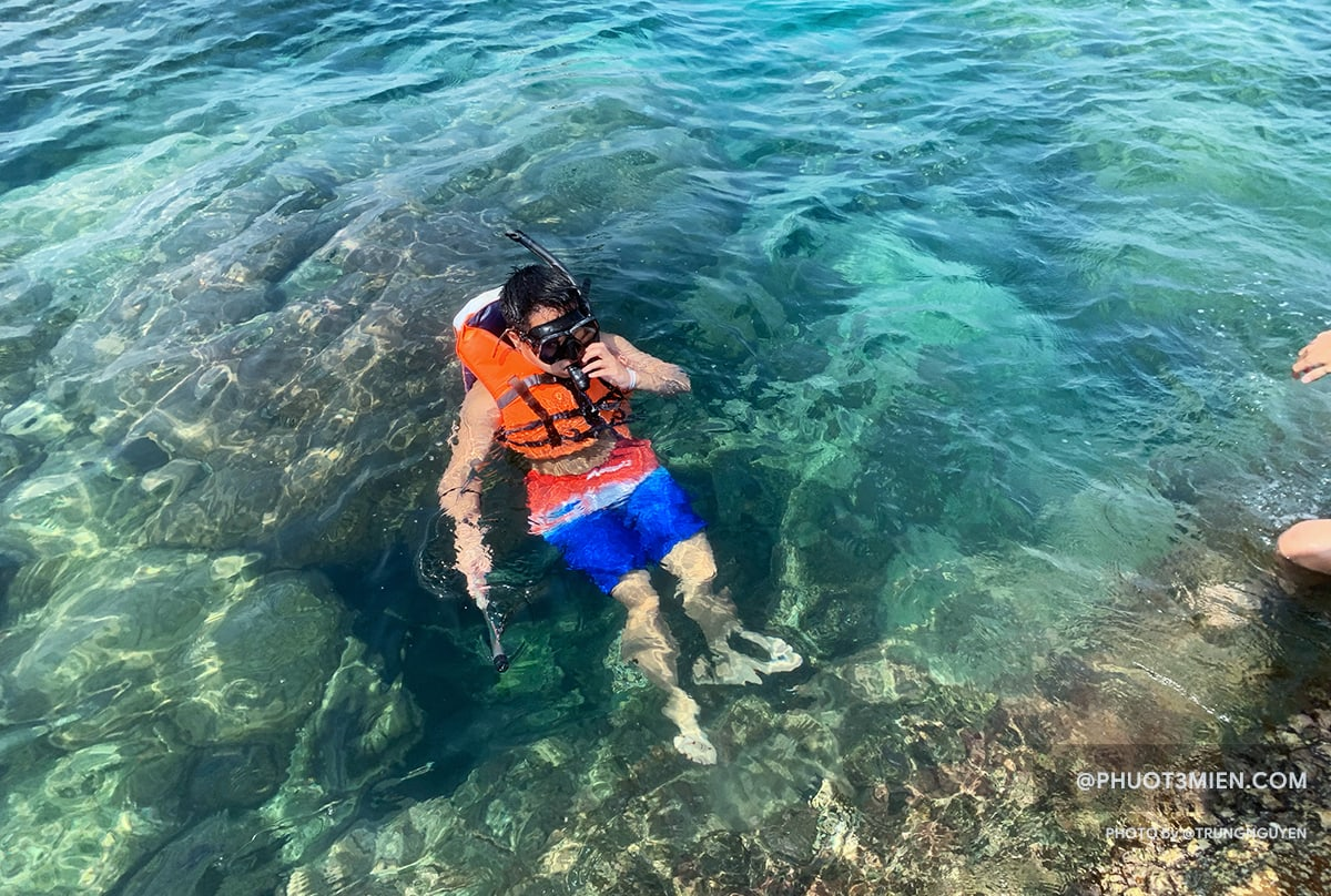 lặn ngắm san hô ở hòn móng tay
