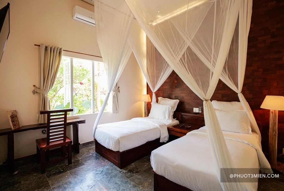 phòng nghỉ tại trăng villa
